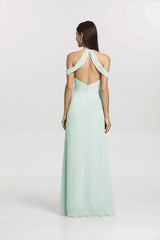 Back view Kelsey Bridesmaid gown in sea glass by Gather and Gown Bridesmaids
