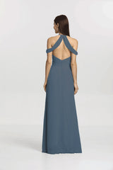 Back view Kelsey Bridesmaid gown in Mahogany by Gather and Gown Bridesmaids