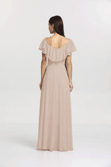 SHELBY BRIDESMAID GOWN MOCHA