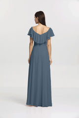 Back view Shelby Bridesmaid gown in Mahogany by Gather and Gown Bridesmaids
