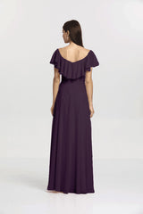SHELBY BRIDESMAID GOWN EGGPLANT