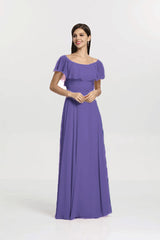SHELBY BRIDESMAID GOWN PURPLE