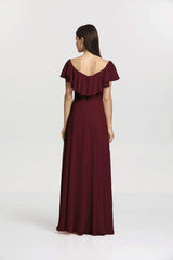 SHELBY BRIDESMAID GOWN MAHOGANY