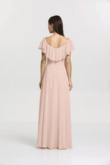 SHELBY BRIDESMAID GOWN BLUSH