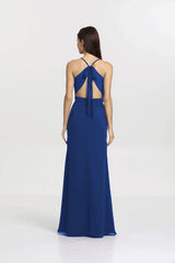 Back view Sydney Bridesmaid gown in Royal by Gather and Gown Bridesmaids