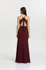 SYDNEY BRIDESMAID GOWN MAHOGANY