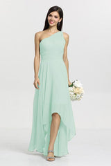 Christina Bridesmaid Gown in sea glass. Front View.