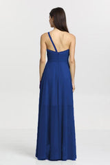 Christina Bridesmaid Gown in royal. Back View.