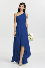 Christina Bridesmaid Gown in royal. Front View.