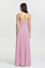 Christina Bridesmaid Gown in orchid. Back View.