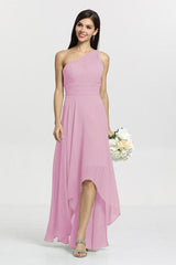 Christina Bridesmaid Gown in orchid. Front View.