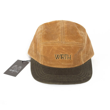 Tan/Olive Oilskin Five Panel Cap