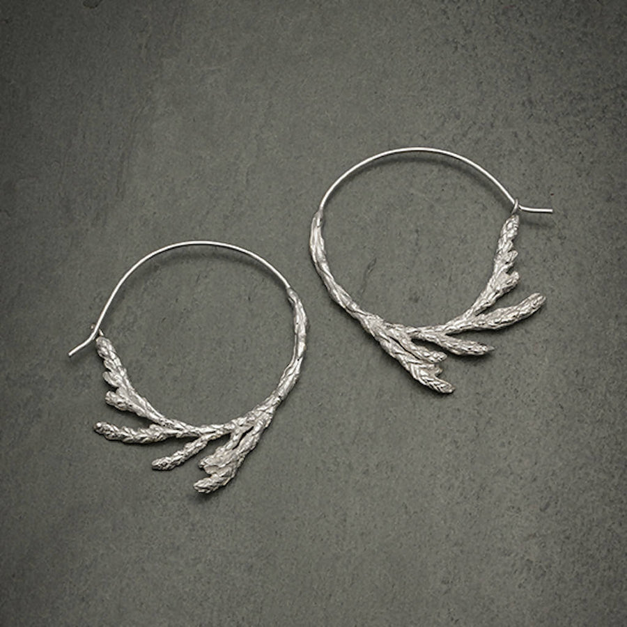 Sacred Cedar Hoop earrings