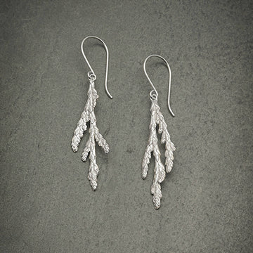 Winter Cedar Branch earrings