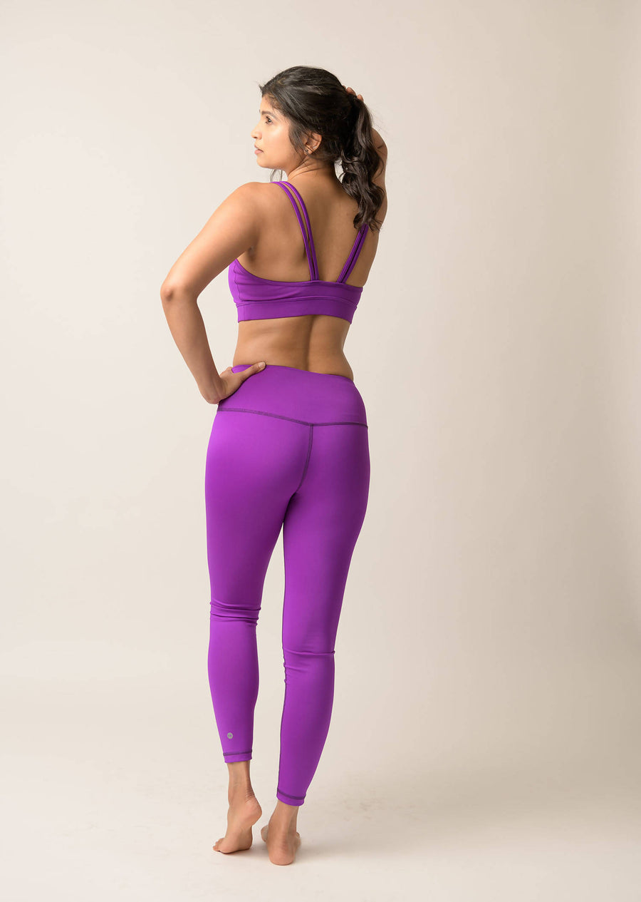 Avalon High Waist Leggings - Deep Purple