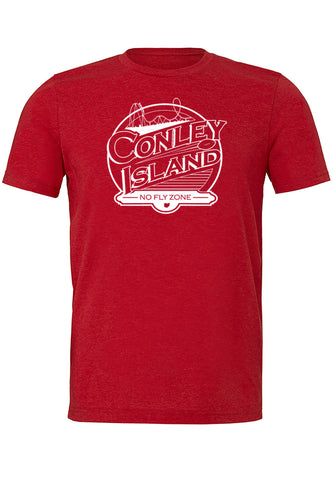 Conley Island Short Sleeve  Unisex Crewneck Tee/Red - SALE