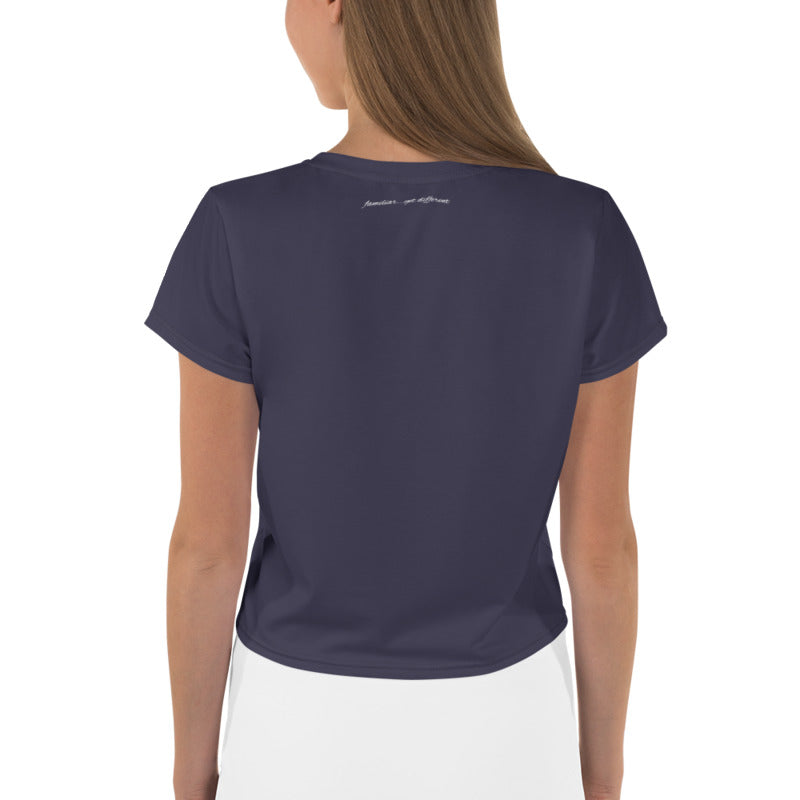 FYDlife BASICS Crop Tee in navy blue