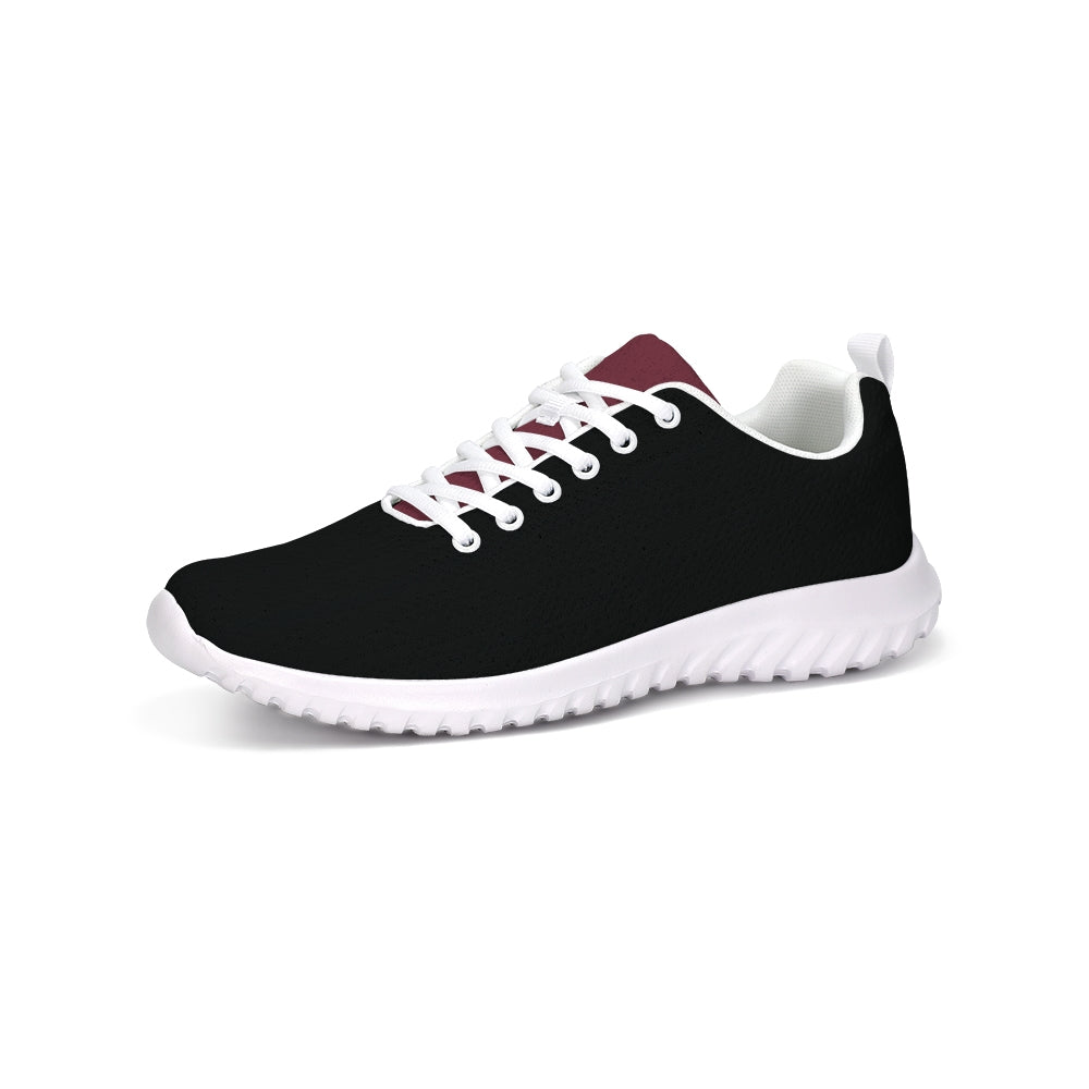 Sporty Sneakers in black & red color block