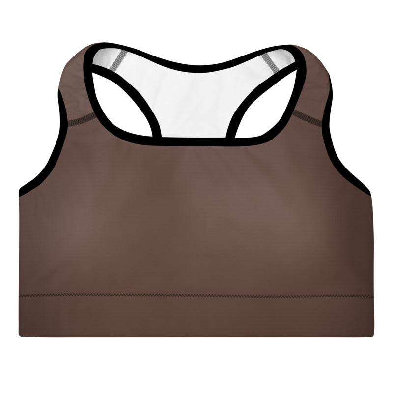 FYDlife BASICS Sports Bra in chocolate brown