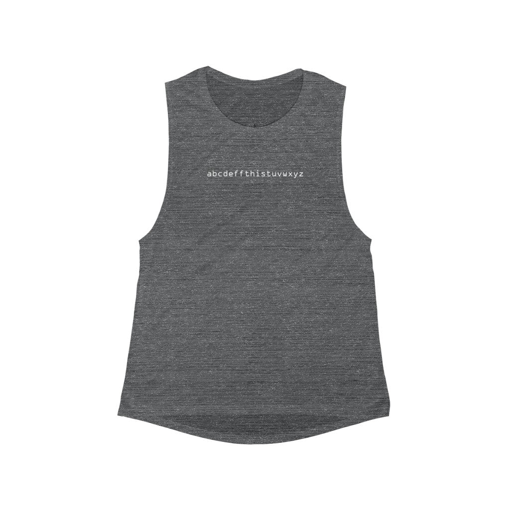 Scoop Muscle Tank ABCs + 2 colors