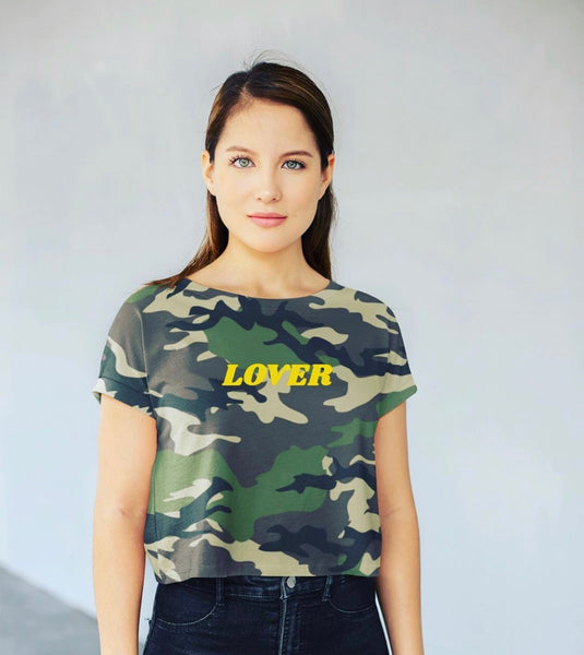 Crop Tee camo lover up to 3XL