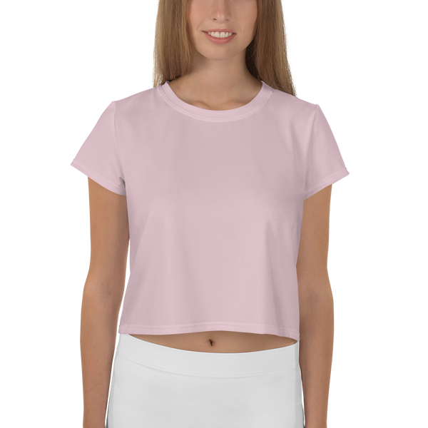 FYDlife BASICS Crop Tee in pastel pink