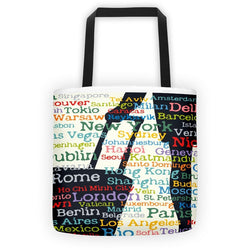 Wanderlust Destinations Galore Bag
