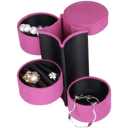 Velvet Ring, Earrings, Necklace, Travel Case - 4 colors