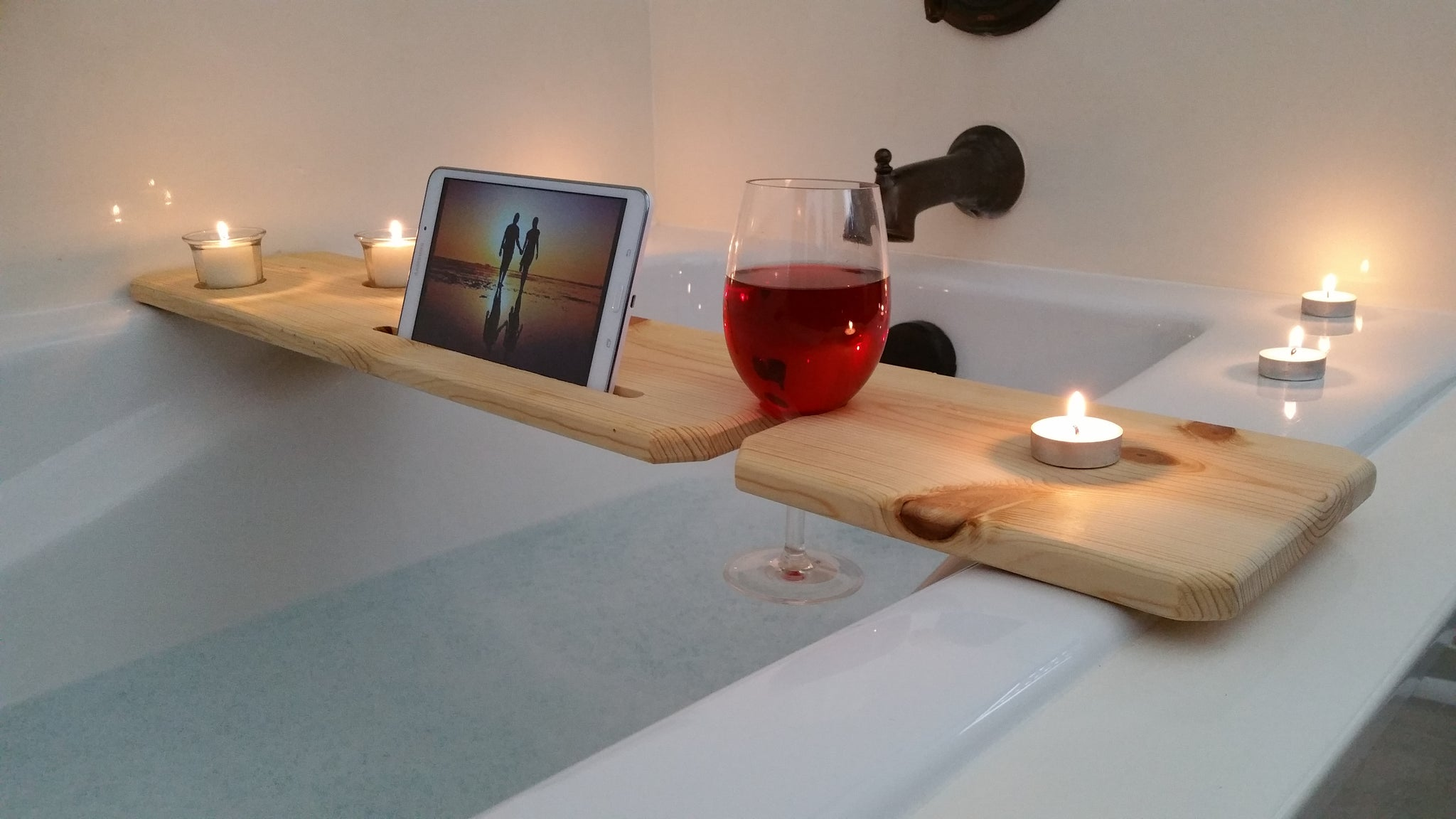 Wooden Bath Caddy Tray – Sliver Woodworking