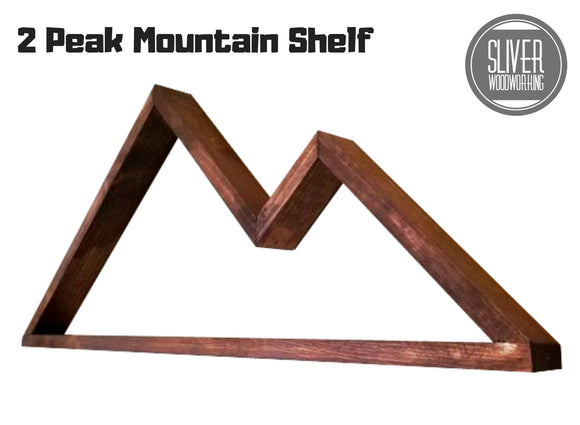 2 Peak Mountain Shelf 28 Inch, Hanging Mountain Shelf