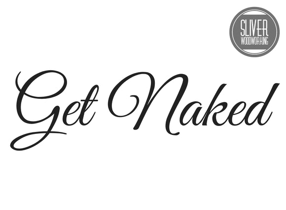 Get Naked Shower Decal