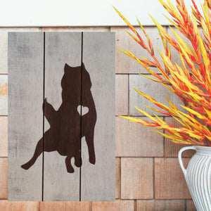 Husky Silhouette Painted Sign - White