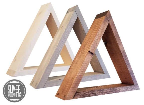 Triangle Floating Shelf