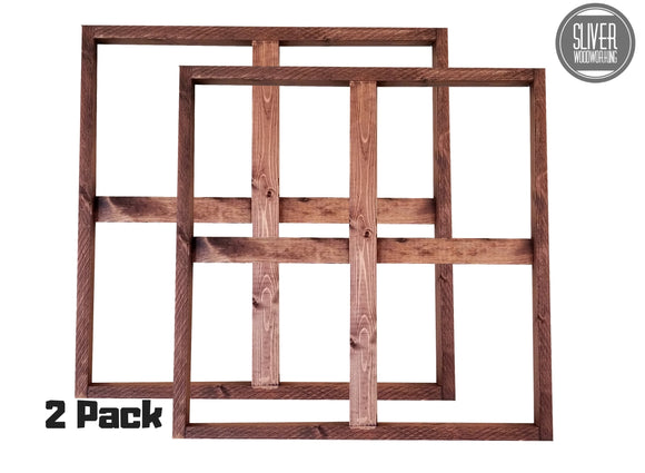Farmhouse Faux Window Frames (2 Pack)