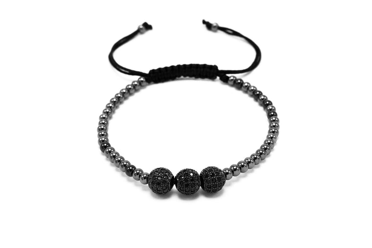 Black Rhodium with Black Lux Disco Balls