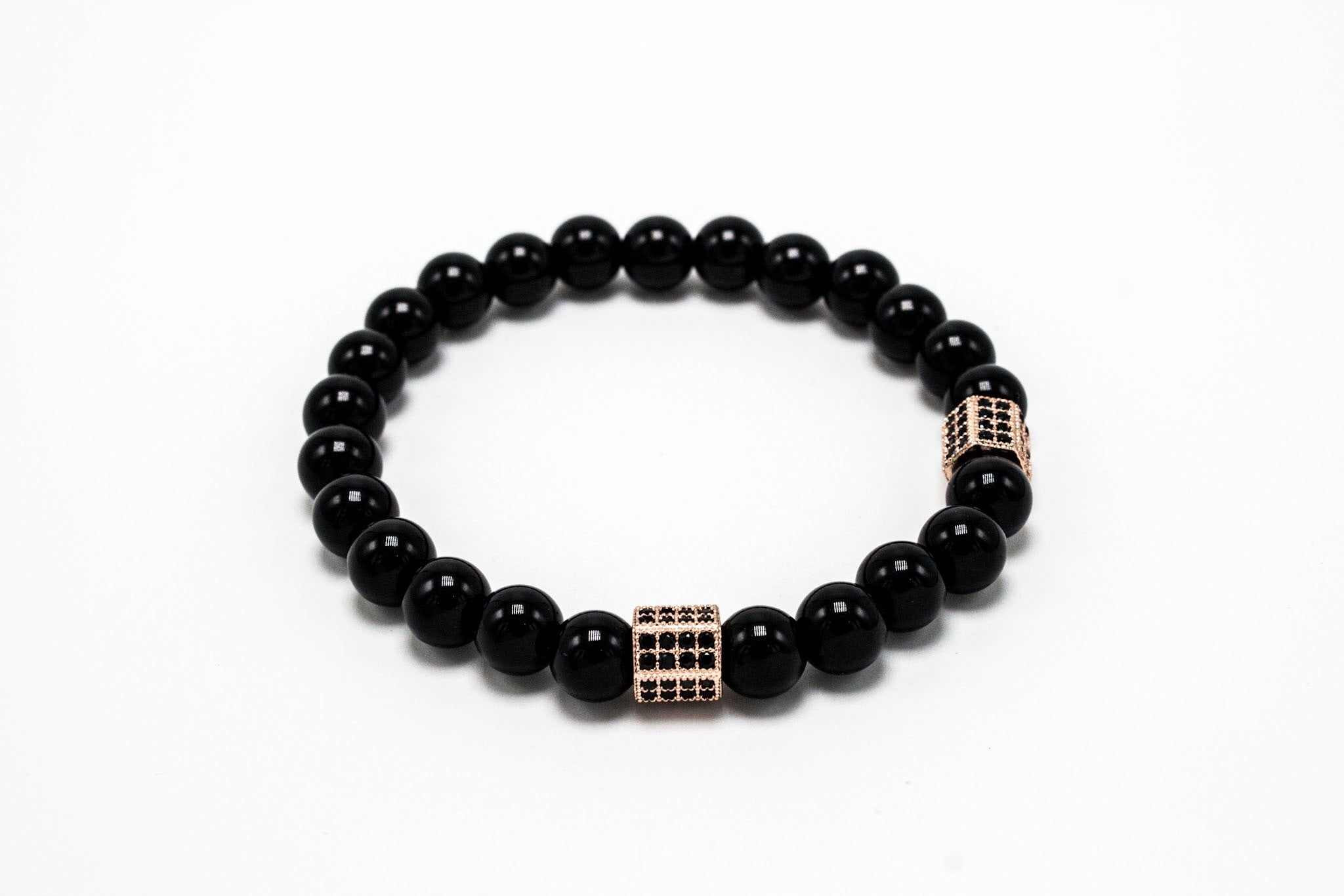 Black Agate Rose Gold Lux Hex