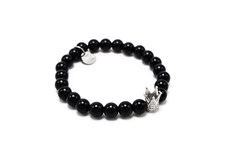 Black Agate Silver Lux Crown