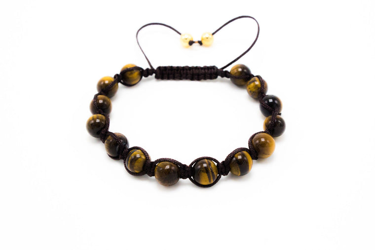 Lux Brown Tiger Eye Shamballa