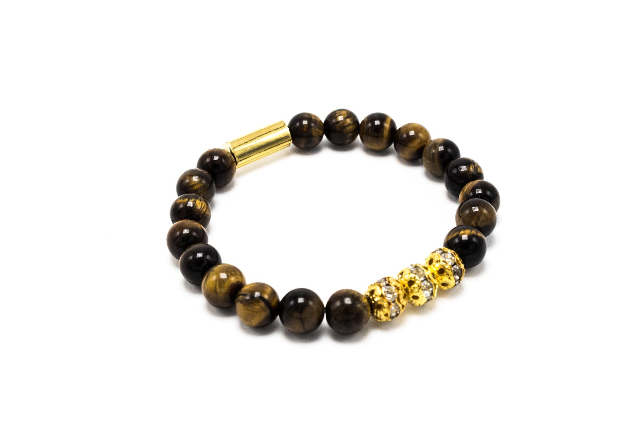 Brown Tiger Eye Lux Golden Crystal Balls