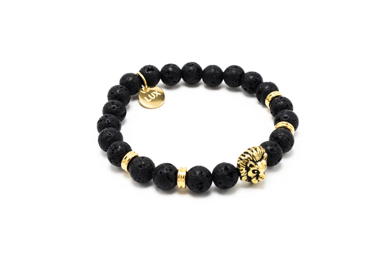 Black Lava Stone Golden Lux Leo