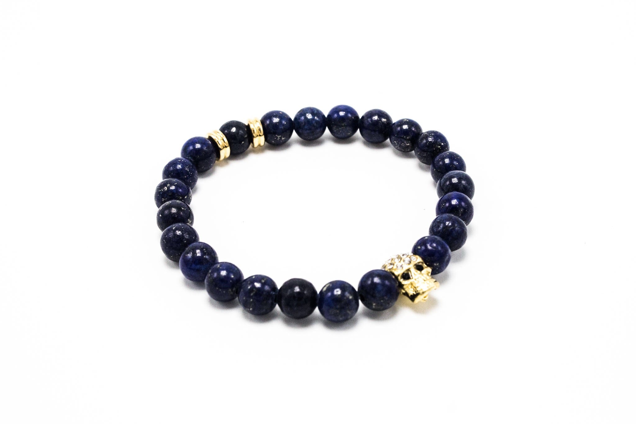 Lapis with Golden Lux Skull
