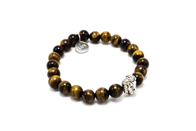 Brown Tiger Eye Silver Lux Leo