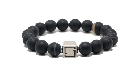 Premium Lux Black Banded Agate