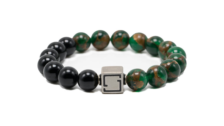 Premium Lux Unified Green Jasper and Obsidian