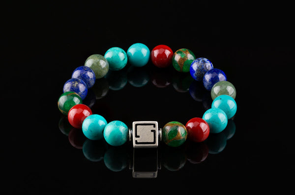 Premium Lux Unified Turquoise, Red Coral, Green Jasper,Moss Agate, Lapis Lazuli