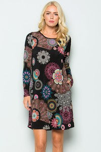 Samantha Medallion Print Dress