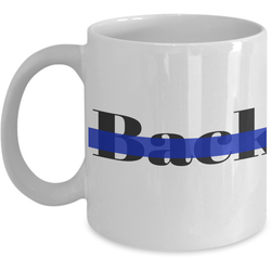 Back The Blue support for police mug