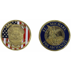 Police Officer Bronze Metal Souvenir Coins