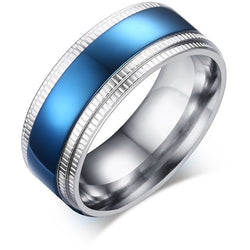 2016 new high quality 8 mm stainless steel - Thin Blue Line ring