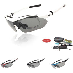 Professional Polarized Cycling  Sunglasses UV 400 With 5 Lens TR90 5 color - FREE Shipping